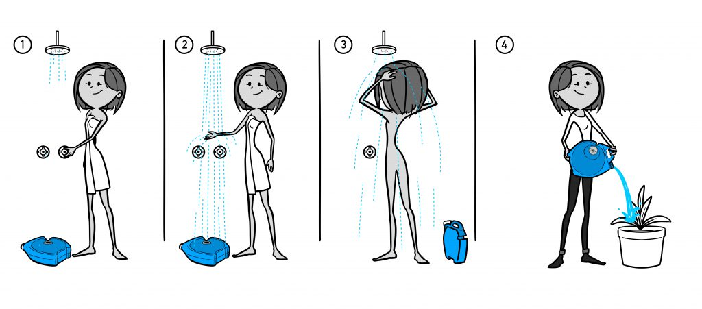 Aguawell_collect_water_in_the_shower